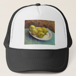 Still Life with Lemons on a Plate by Van Gogh Trucker Hat