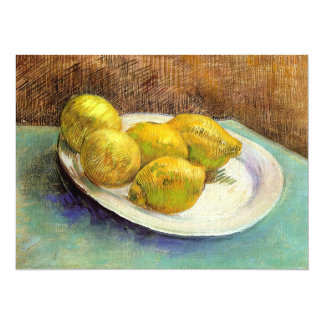 Still Life with Lemons on a Plate Card