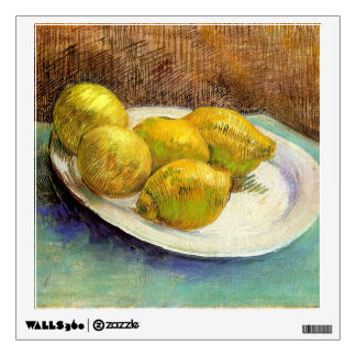 Still Life with Lemons on a Plate Wall Sticker