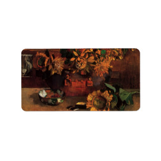 Still Life with L'Esperance (Hope) by Paul Gauguin Label