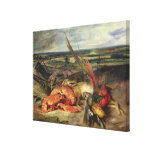 Still Life with Lobsters, 1826-27 Canvas Print