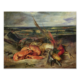 Still Life with Lobsters, 1826-27 Poster