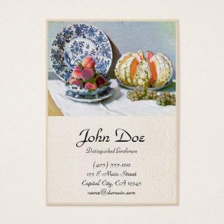 Still Life with Melon, 1872 Claude Monet Business Card