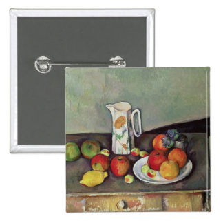 Still life with milk jug and fruit, c.1886-90 (oil 2 inch square button