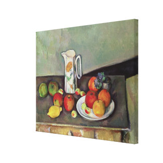 Still life with milk jug and fruit, c.1886-90 (oil canvas print
