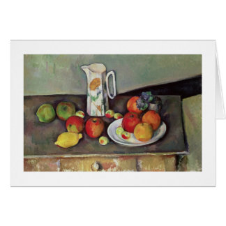 Still life with milk jug and fruit, c.1886-90 (oil card