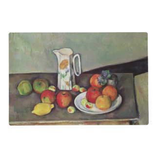 Still life with milk jug and fruit, c.1886-90 (oil laminated placemat