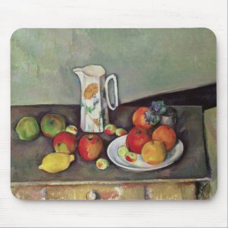 Still life with milk jug and fruit, c.1886-90 (oil mouse pad