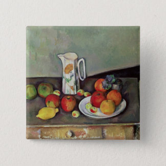 Still life with milk jug and fruit, c.1886-90 (oil pinback button