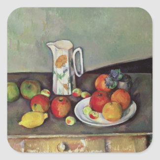 Still life with milk jug and fruit, c.1886-90 (oil square sticker
