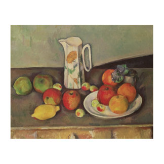 Still life with milk jug and fruit, c.1886-90 (oil wood wall decor