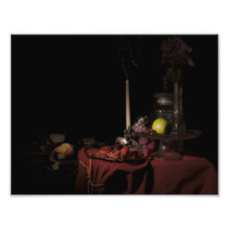Still Life with Mudbugs, Beer, and a Mask Photo Print