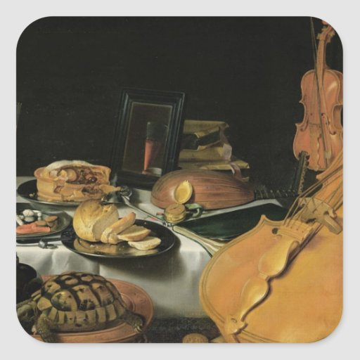 Still Life with Musical Instruments, 1623 Stickers