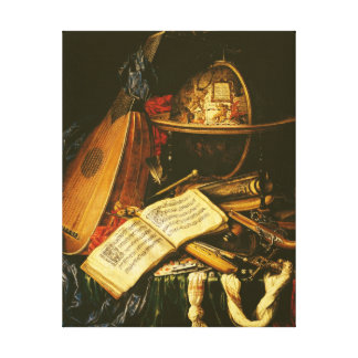 Still Life with Musical Instruments Canvas Print