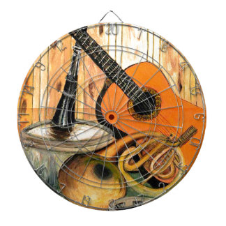 Still Life with Musical Instruments Dart Board