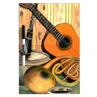 Still Life with Musical Instruments Dry Erase Board