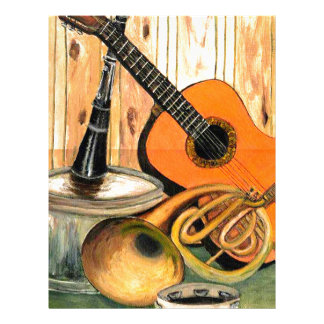 Still Life with Musical Instruments Letterhead
