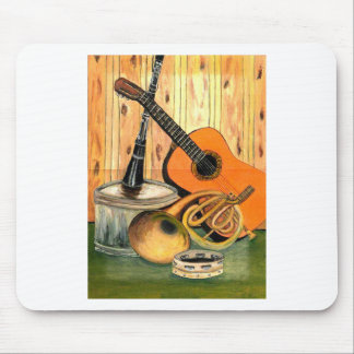 Still Life with Musical Instruments Mouse Pad