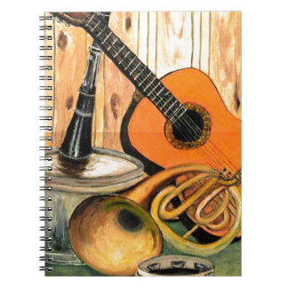 Still Life with Musical Instruments Notebook