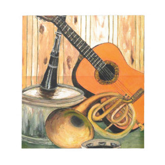 Still Life with Musical Instruments Notepad