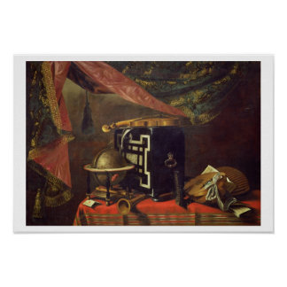 Still Life with Musical Instruments (oil on canvas Poster