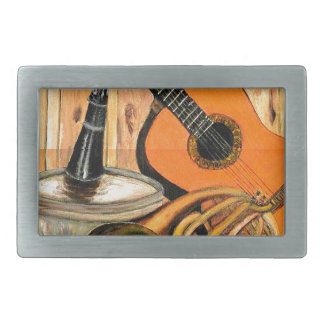 Still Life with Musical Instruments Rectangular Belt Buckle