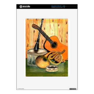 Still Life with Musical Instruments Skins For iPad