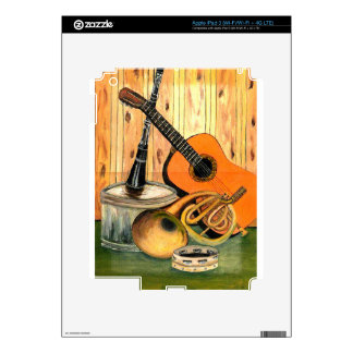 Still Life with Musical Instruments Skins For iPad 3
