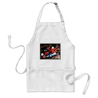 Still Life With Mussels and Shrimps (framed) Adult Apron