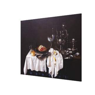 Still Life with Nautilus Cup by Willem Heda 1654 Gallery Wrap Canvas