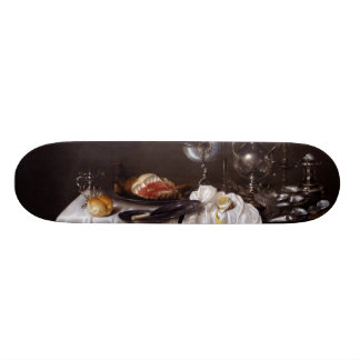 Still Life with Nautilus Cup by Willem Heda 1654 Skate Board Deck