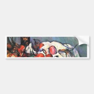 Still Life With Onions By Paul Cézanne Car Bumper Sticker