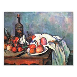 Still Life With Onions By Paul Cézanne Personalized Invitations