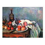 Still Life With Onions By Paul Cézanne Post Card