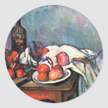Still Life With Onions By Paul Cézanne Round Stickers