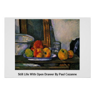 Still Life With Open Drawer By Paul Cezanne Posters
