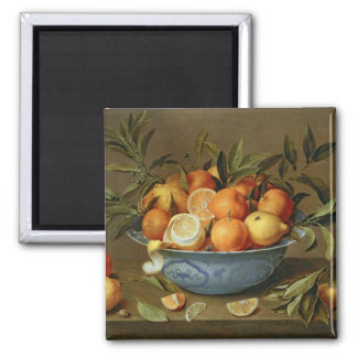 Still Life with Oranges and Lemons 2 Inch Square Magnet