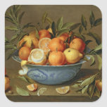 Still Life with Oranges and Lemons Square Sticker