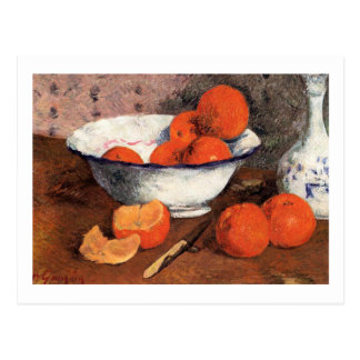 Still Life with Oranges by Gauguin Postcard
