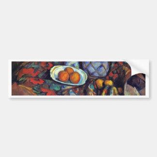 Still Life With Oranges By Paul Cézanne Car Bumper Sticker