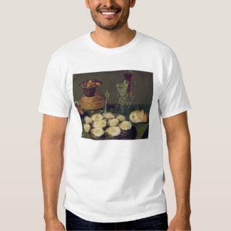 Still Life with Oysters and Glasses (oil on panel) Shirt