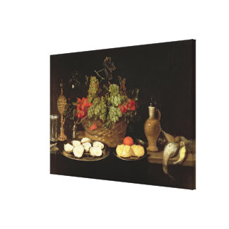 Still Life with Oysters Canvas Print