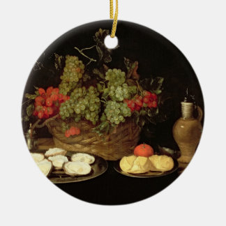Still Life with Oysters Ceramic Ornament