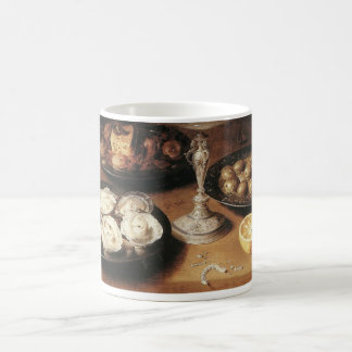 Still life with oysters - Osias Beert Coffee Mug