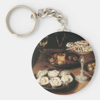Still life with oysters - Osias Beert Keychain