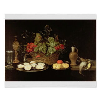 Still Life with Oysters Print