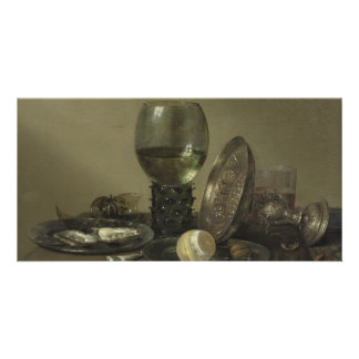 Still Life with Oysters Rummer Lemon by Heda Card