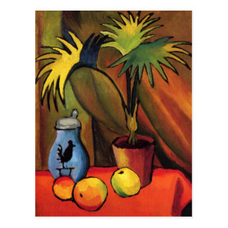 Still Life with Palms by August Macke Postcard