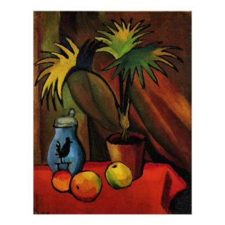Still Life with Palms by August Macke Poster