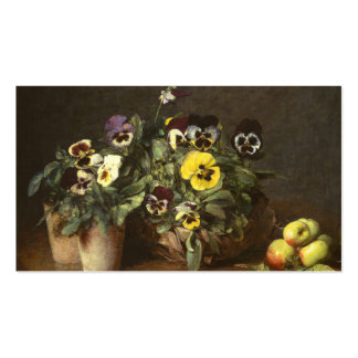 Still Life with Pansies by Fantin-Latour Business Card